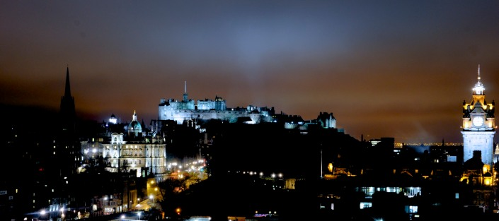 Edinburgh by night (photo from Hidden Edinburgh)