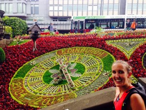 Jen and the flower clock