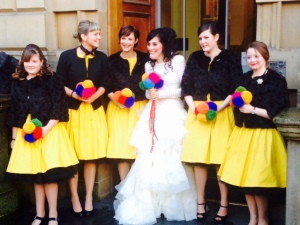 Beautiful day for a colourful wedding