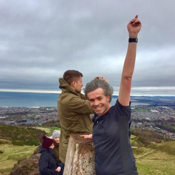 Reaching the summit!
